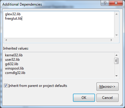 Setting up OpenGL, GLEW, and FreeGLUT in Visual C++